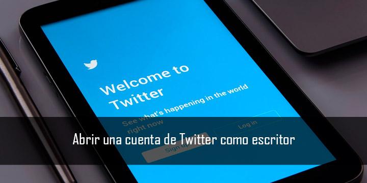 Abrir una cuenta de Twitter como escritor