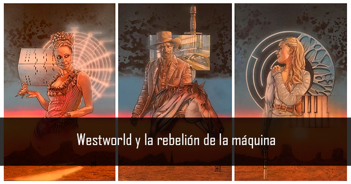 Westworld fan art: Maeve, William y Dolores, por @saintworksart