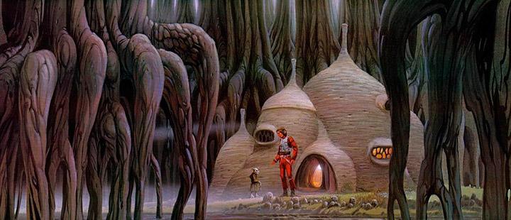 Ilustración de Dagobah por Ralph McQuarrie