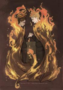 Katniss y Peeta de Los juegos del hambre - Fanart