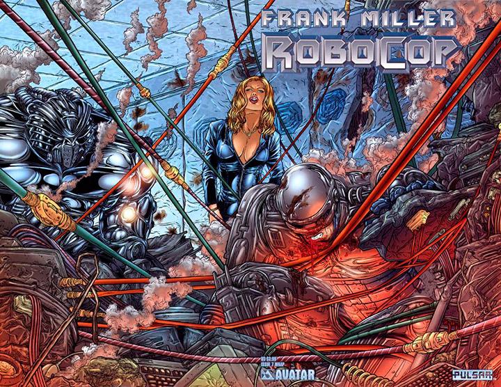 portada del cómic Robocop de Frank Miller