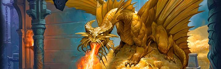 Dragón dorado en su guarida